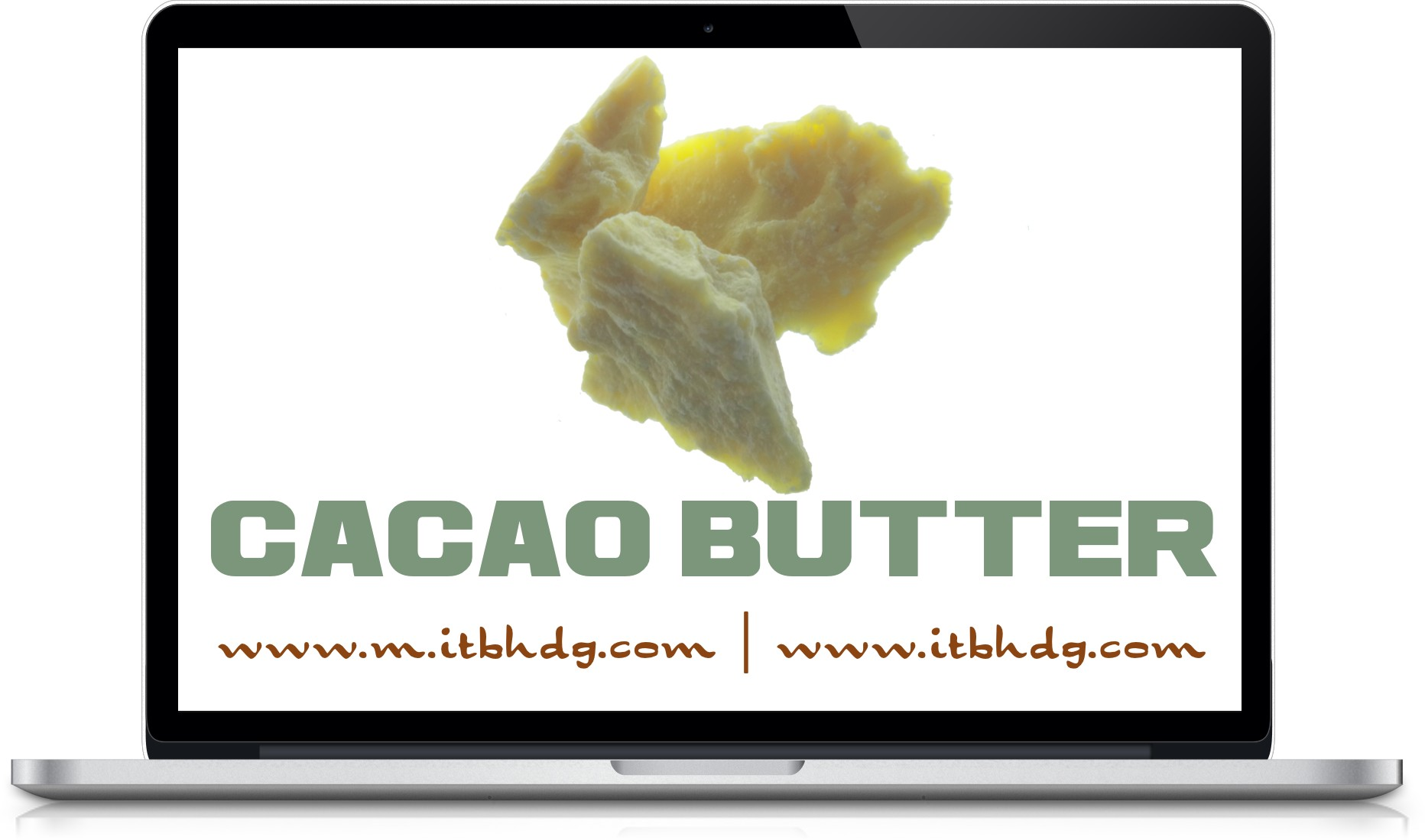 Organic cocoa butter delivered to your warehouse for only $8.98 / kg (2.2 lbs)